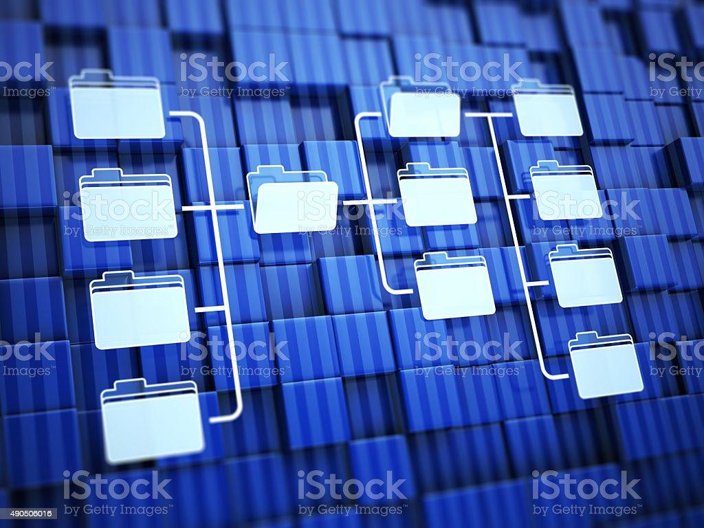 Folders network stock photo