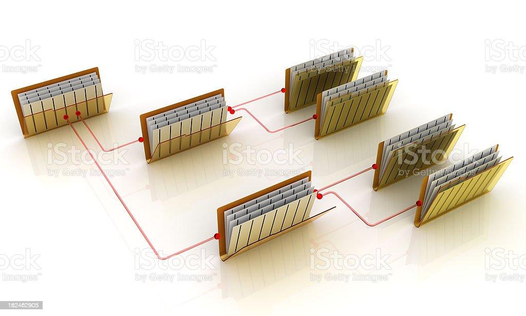 Folders on network royalty-free stock photo