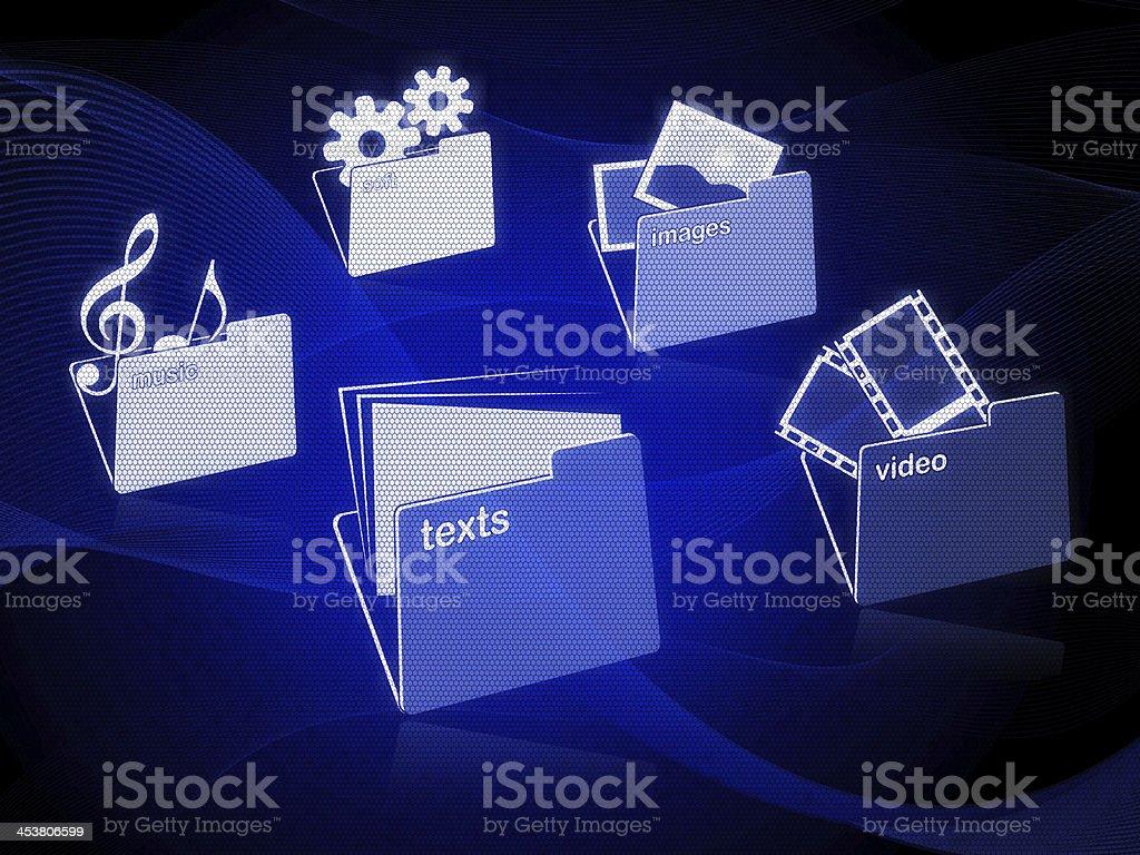 Folders Organization stock photo