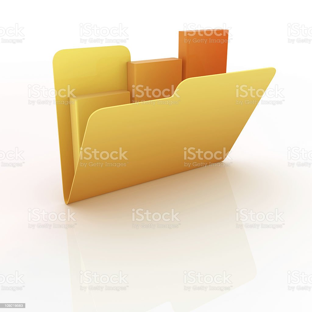 Folders royalty-free stock photo