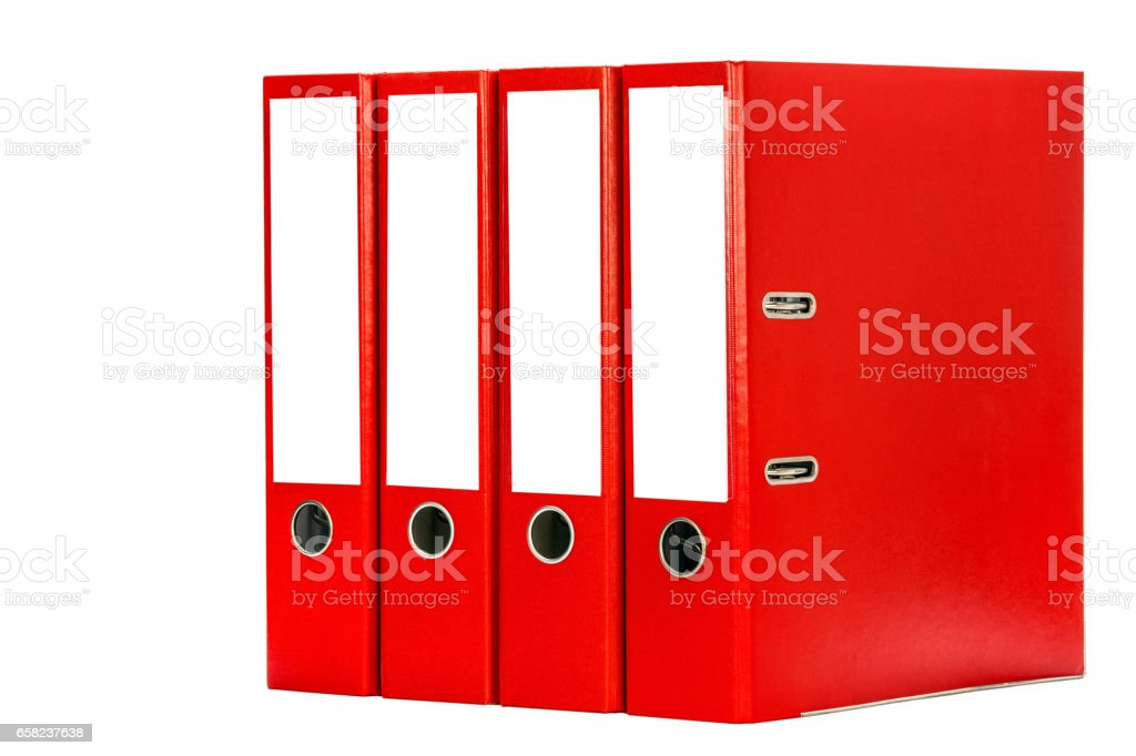 Folders stock photo