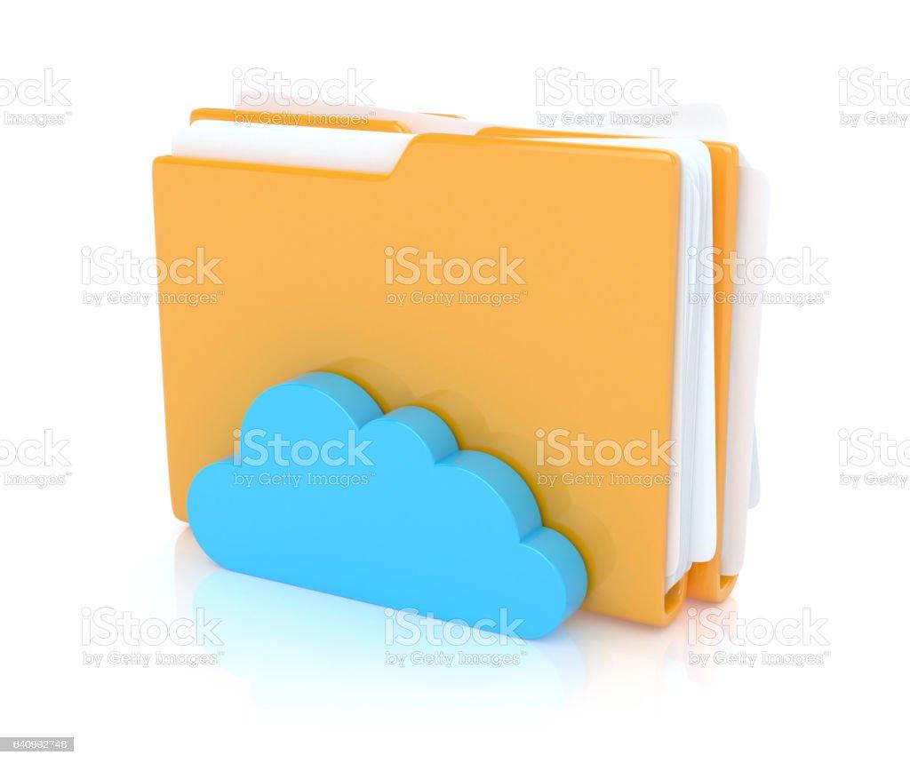 Folders with cloud stock photo
