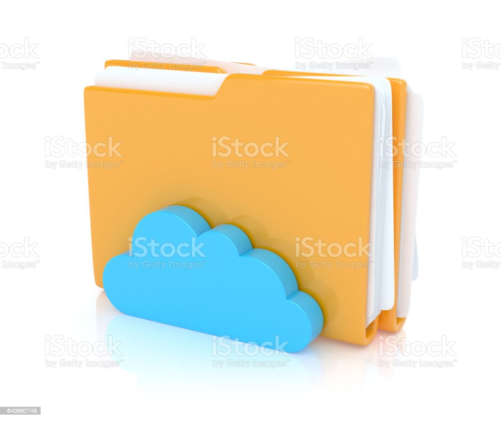 Folders with cloud stock photo