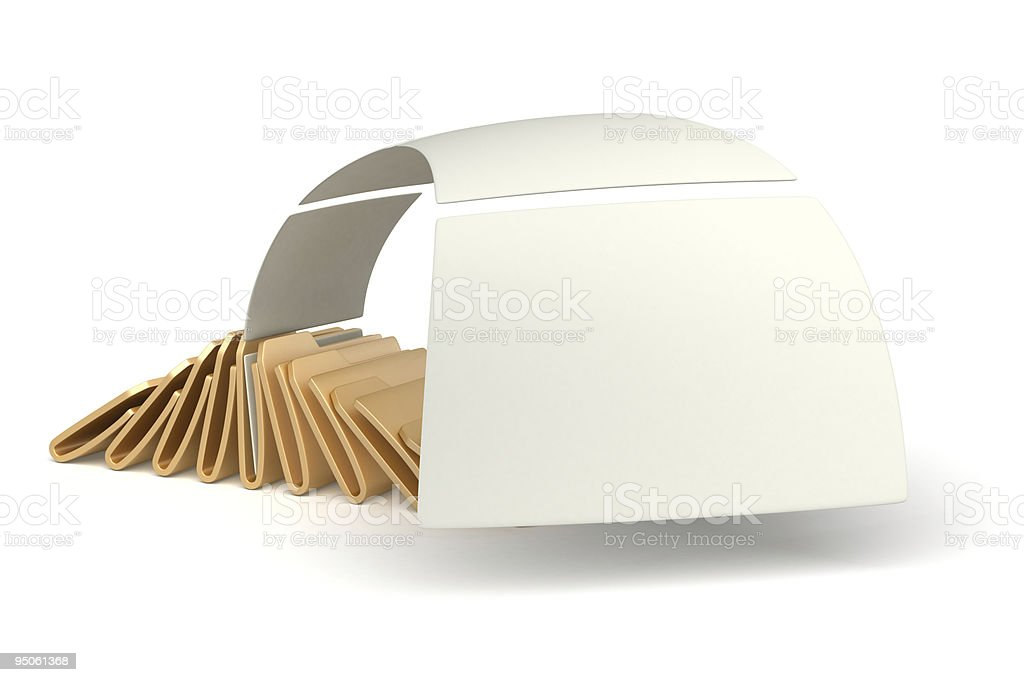 folders with flying papers royalty-free stock photo