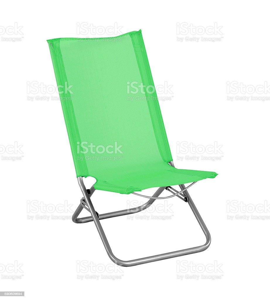 folding camp chair stock photo