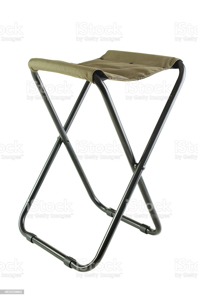 Folding camping chair royalty-free stock photo