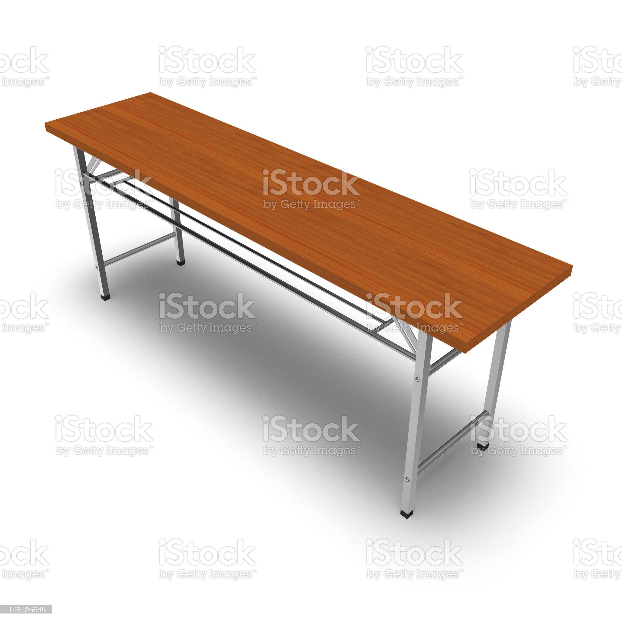 Folding desk royalty-free stock photo