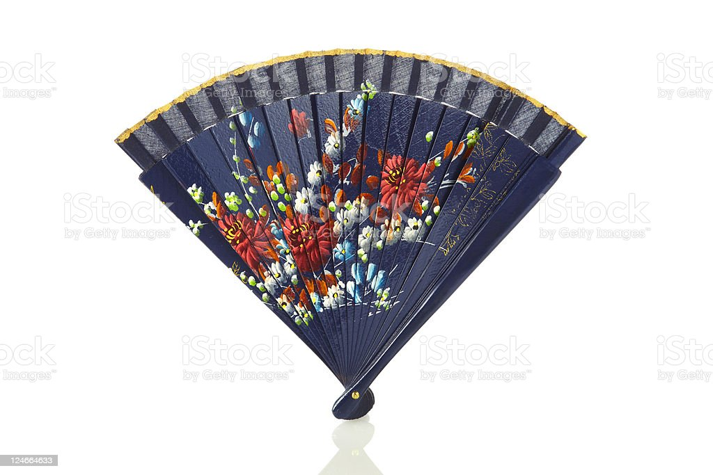 Folding Fan (90 Degrees) stock photo