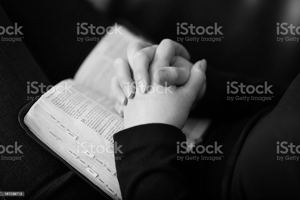 Folding Hands and Pray royalty-free stock photo