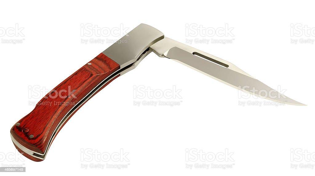 Folding knife stock photo