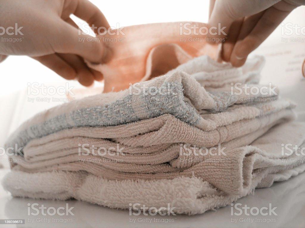 Folding Laundry royalty-free stock photo