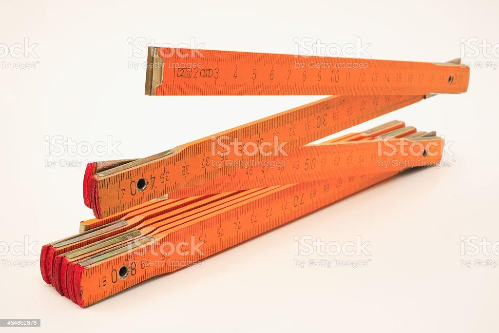 Folding rule stock photo