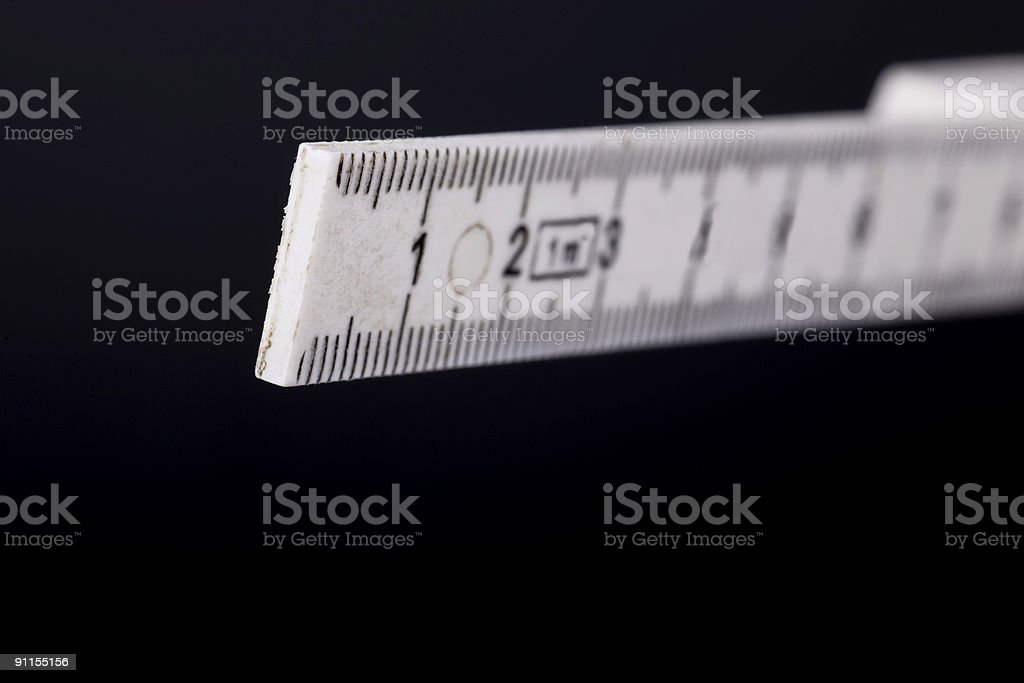 Folding rule stock photo