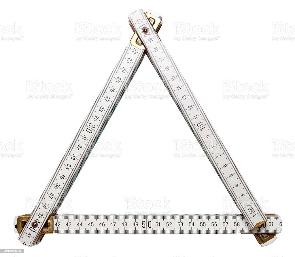 Folding ruler frame stock photo