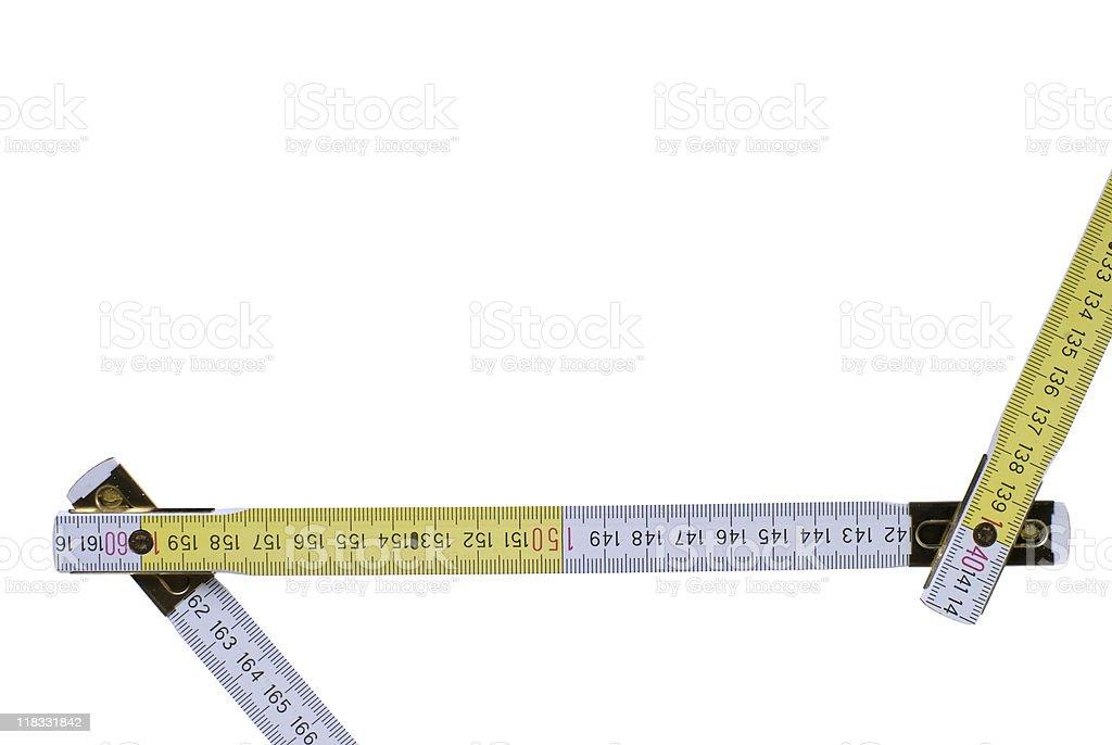 Folding Ruler stock photo