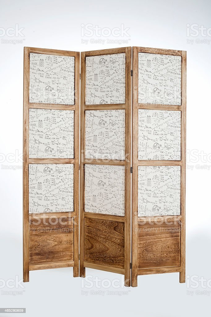 folding screen furniture stock photo