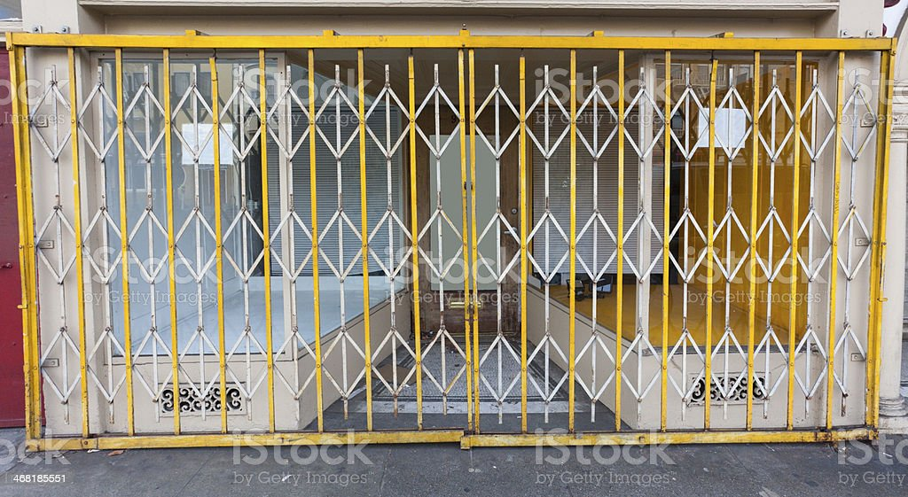 Folding Security Gate stock photo