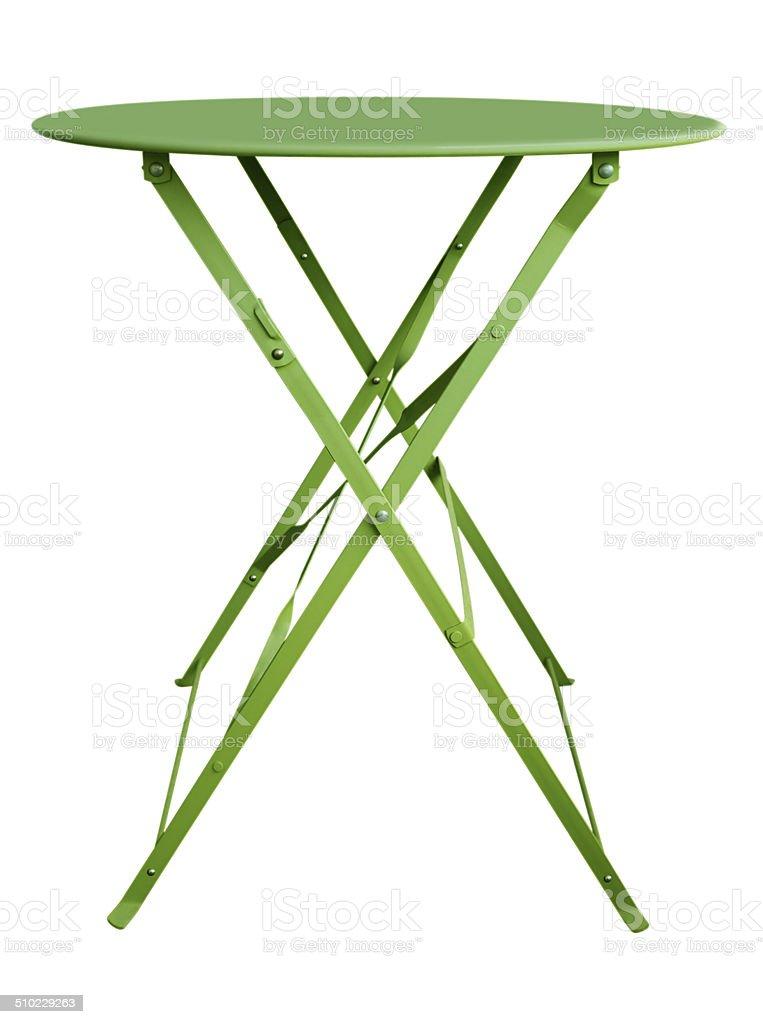 Folding Table Green stock photo