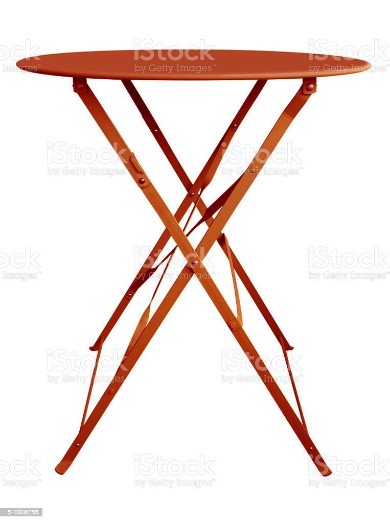 Folding Table Red stock photo