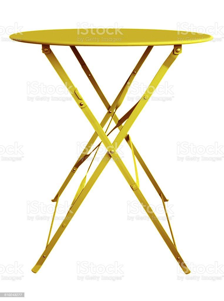 Folding Table Yellow stock photo