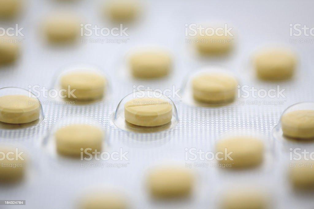 Folic acid pills in blister pack stock photo