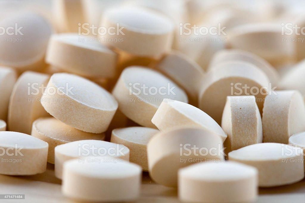 folic acid tablets stock photo