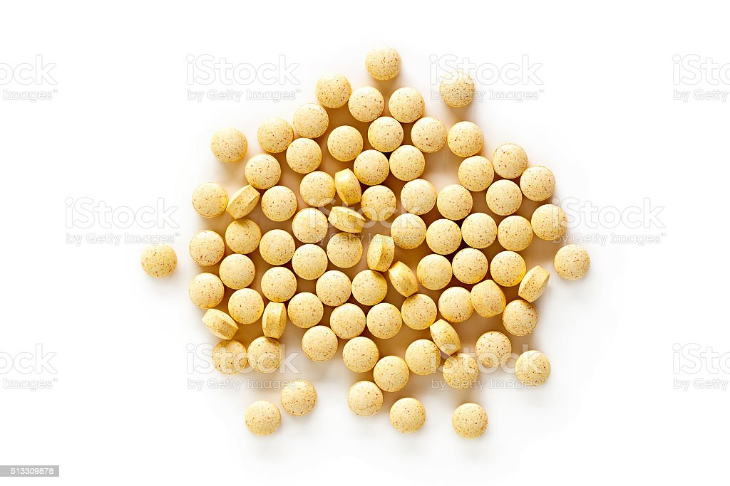 Folic Acid Vitamin Supplements stock photo