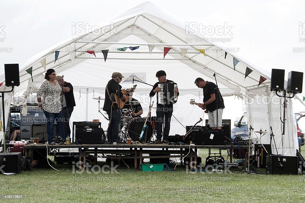 Folk Band in Gloucestershire, UK stock photo