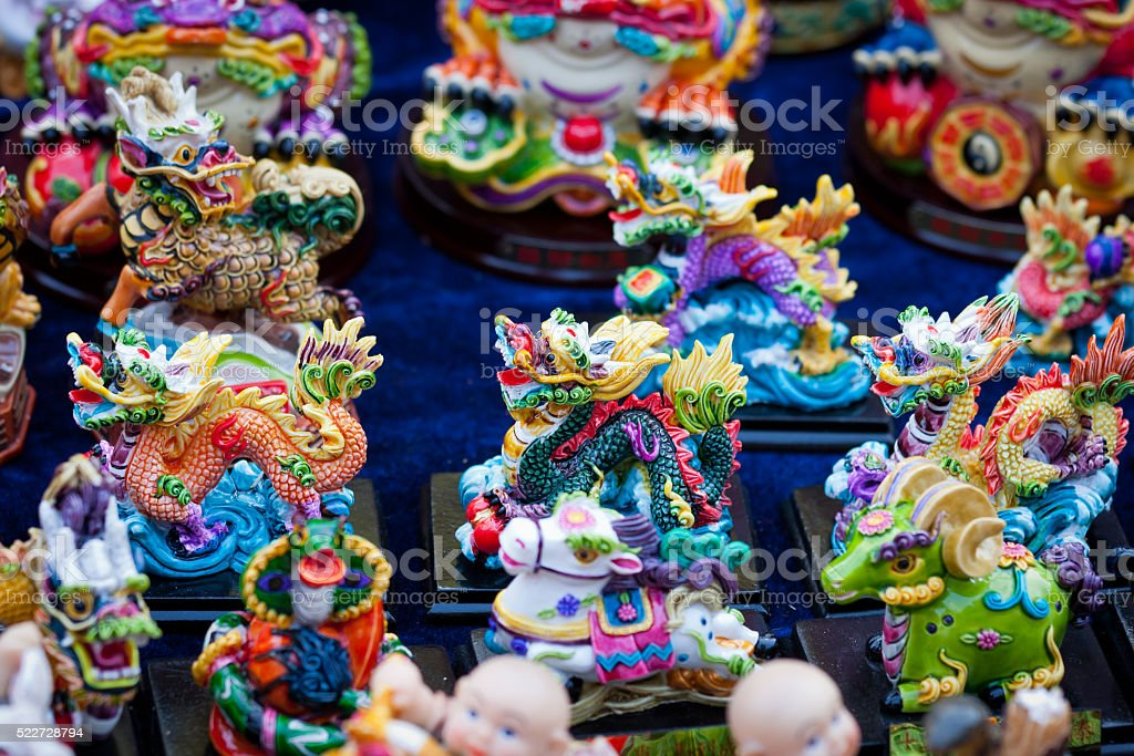 Folk Crafts in the Beijing temple stock photo