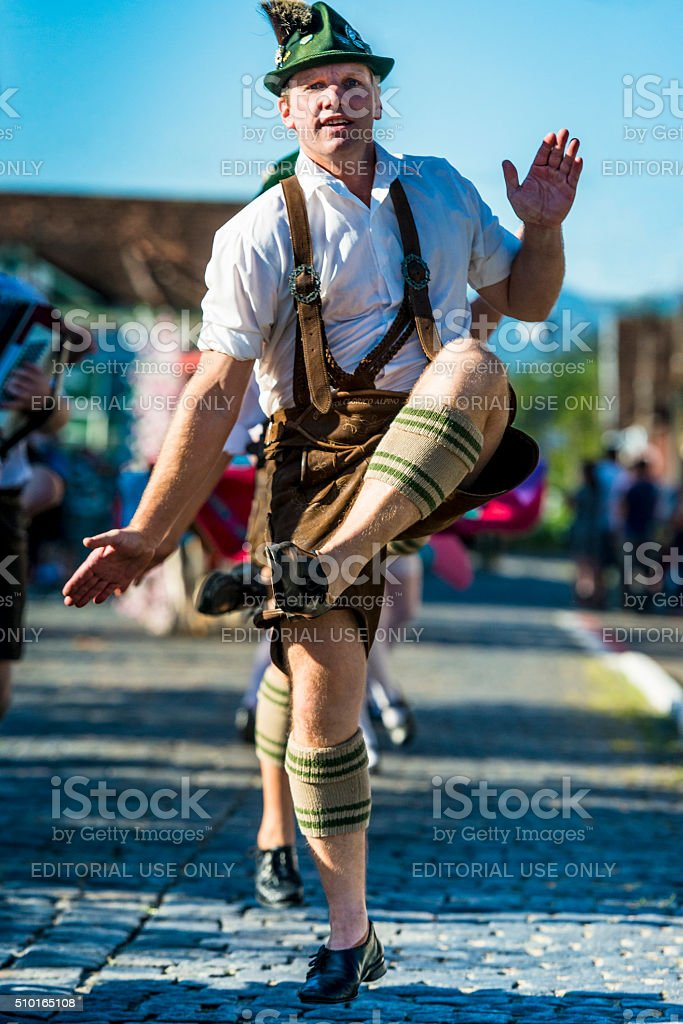 Folk dance group - Pomerode, Brazil stock photo
