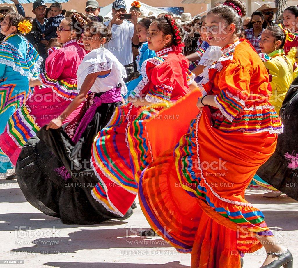 Folk Dancers at Pancho Villa Commemoration stock photo