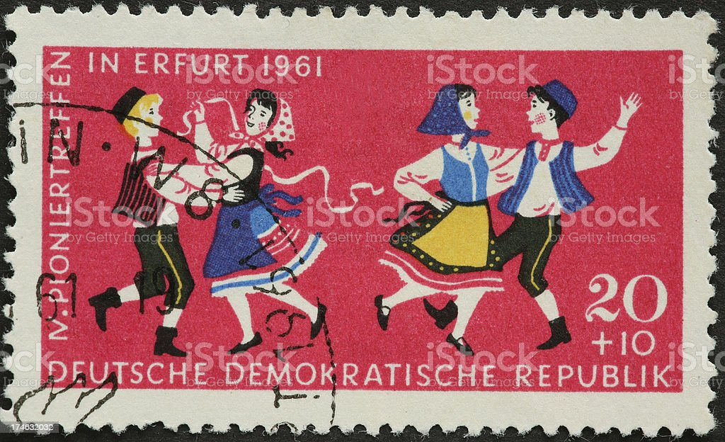 folk dancers royalty-free stock photo