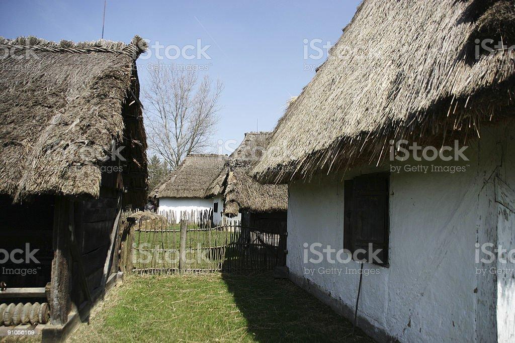 folk houses royalty-free stock photo