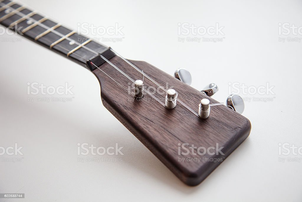 Folk musical instrument balalaika stock photo