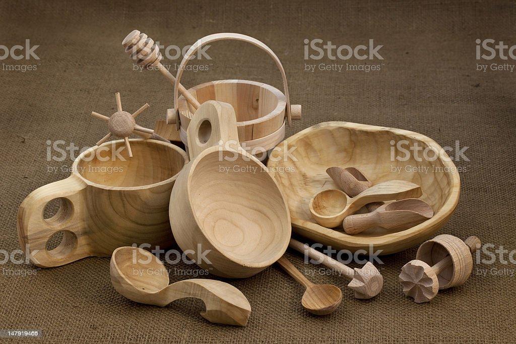 folk wood craft from Poland royalty-free stock photo