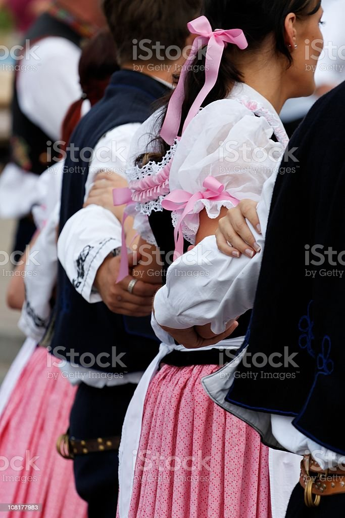 Folklore dancing royalty-free stock photo