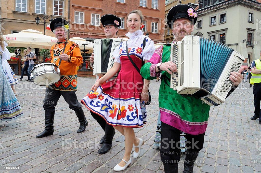 Folklore ensemble Rossijana stock photo