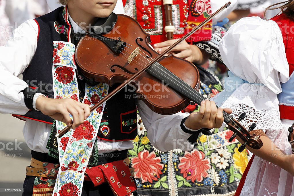 Folklore musician stock photo