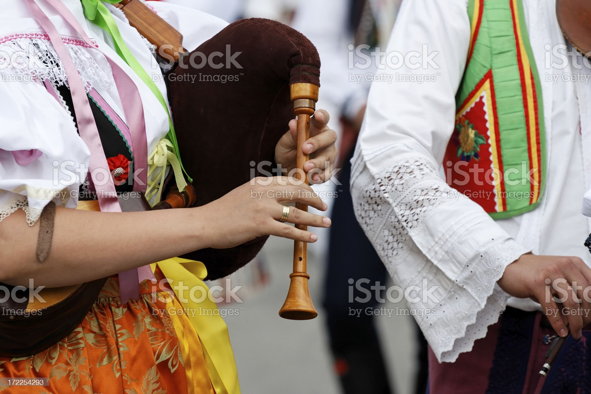 Folklore musicians royalty-free stock photo