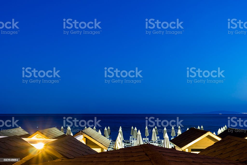 Follonica waterfront in summer stock photo