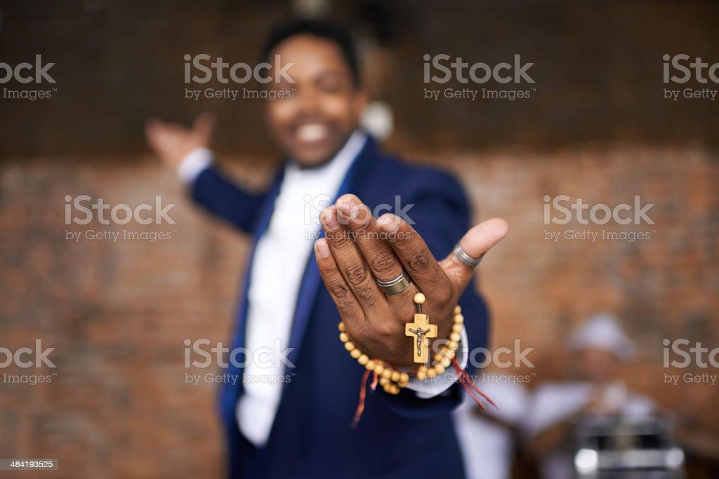 Follow his faith stock photo