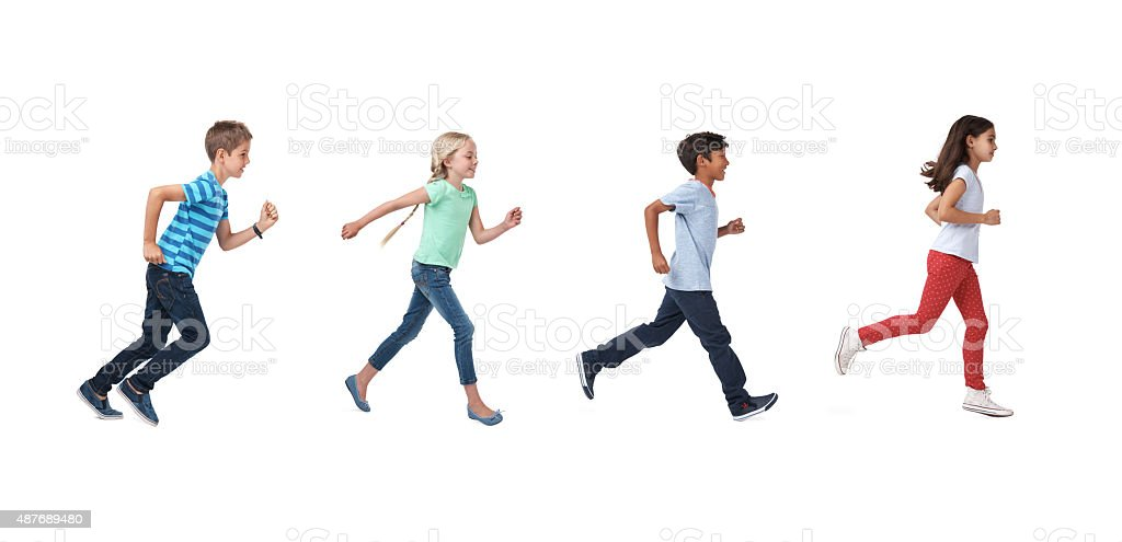 Follow the fun! stock photo