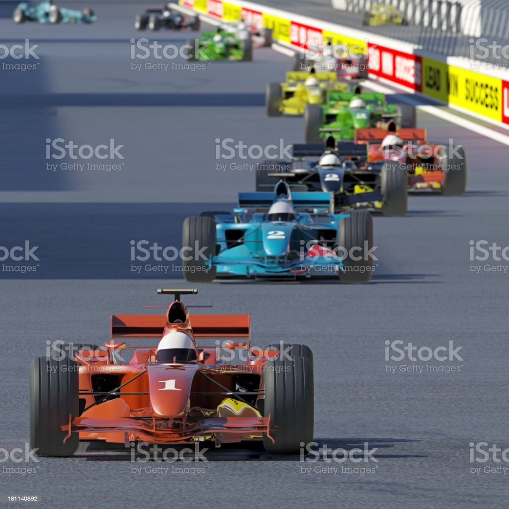 Follow the Leader royalty-free stock photo