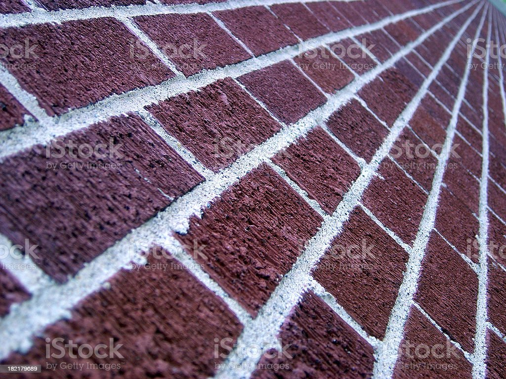 follow the red brick road royalty-free stock photo