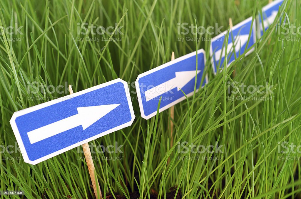 Follow the Signs stock photo