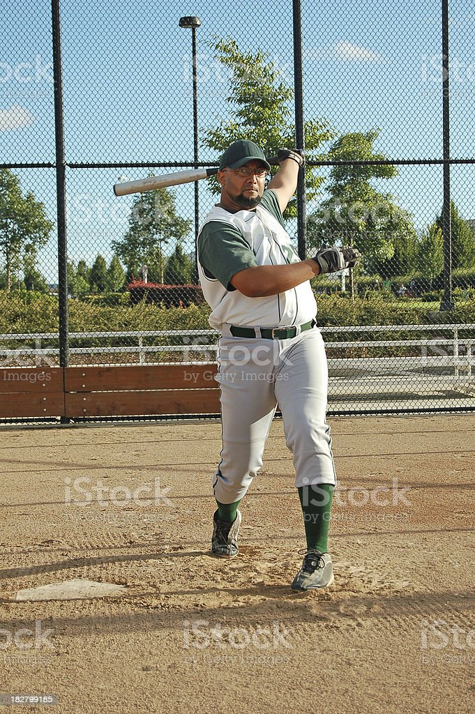 Follow Through Swing royalty-free stock photo