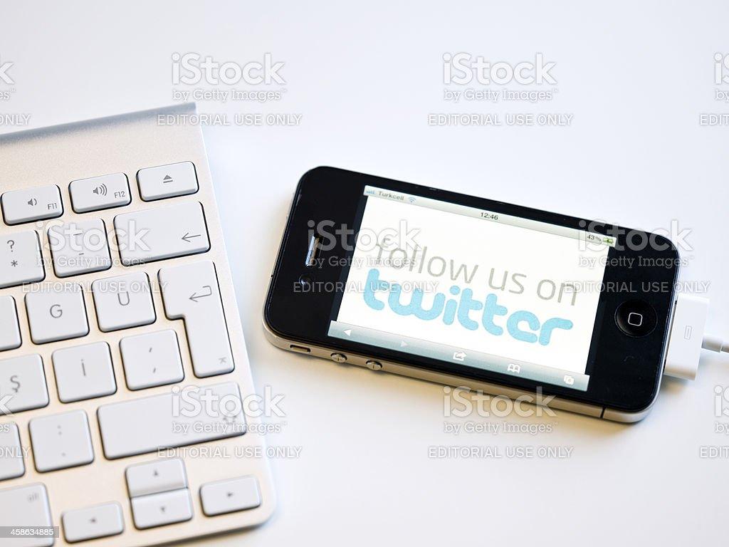 Follow us on twitter royalty-free stock photo