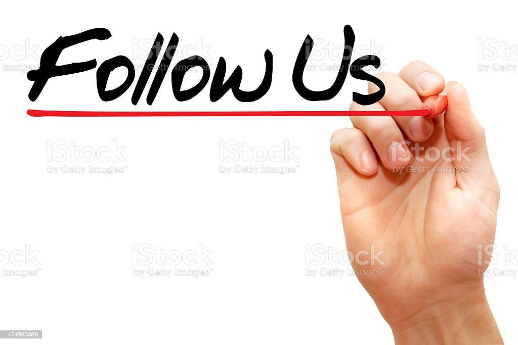 Follow Us stock photo