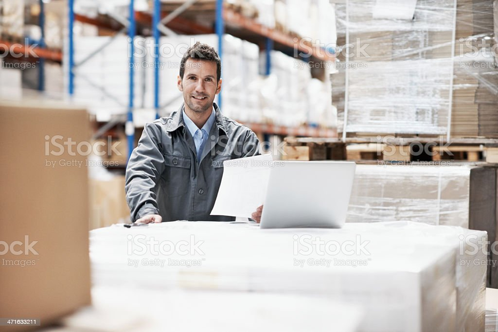 Following the instructions from his superiors royalty-free stock photo