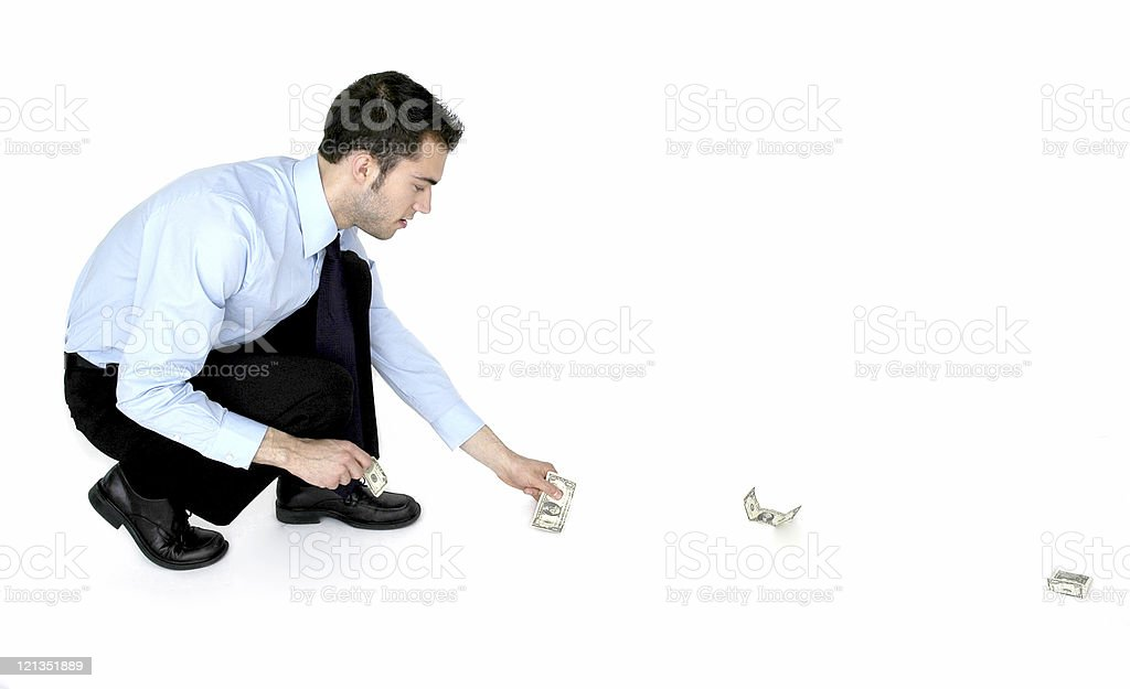 Following the Money royalty-free stock photo
